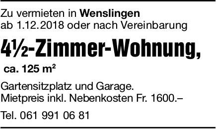 4.5-Zimmer-Wohnung, Wenslingen, zu vermieten