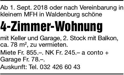 4-Zimmer-Wohnung, Waldenburg, zu vermieten