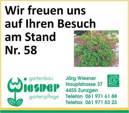 Jörg Wiesner, Gartenbau, Zunzgen