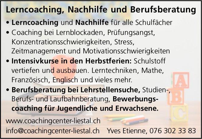 Lerncoaching, Nachhilfe und Berufsberatung