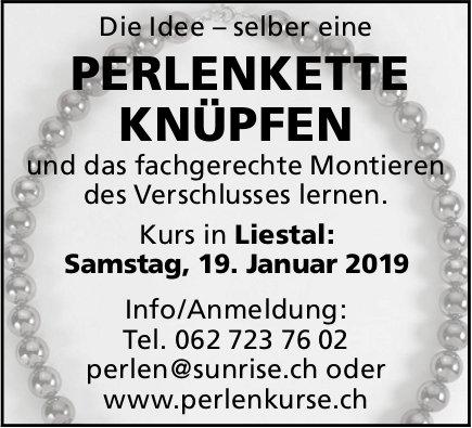 Perlenkette Knüpfen am 19. Januar in Liestal