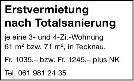 Erstvermietung nach Totalsanierung in Tecknau