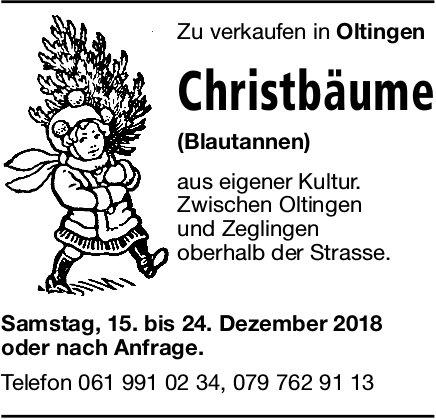 Christbäume in Oltingen zu verkaufen