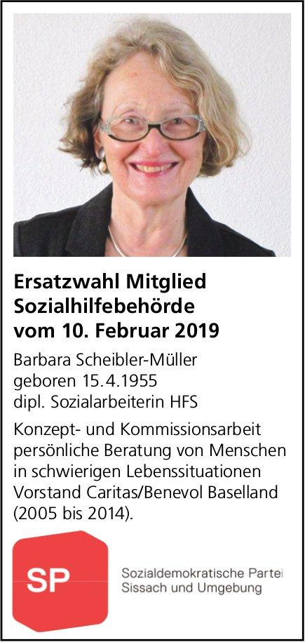 Barbara Scheibler-Müller - Ersatzwahl Mitglied Sozialhilfebehörde Sissach