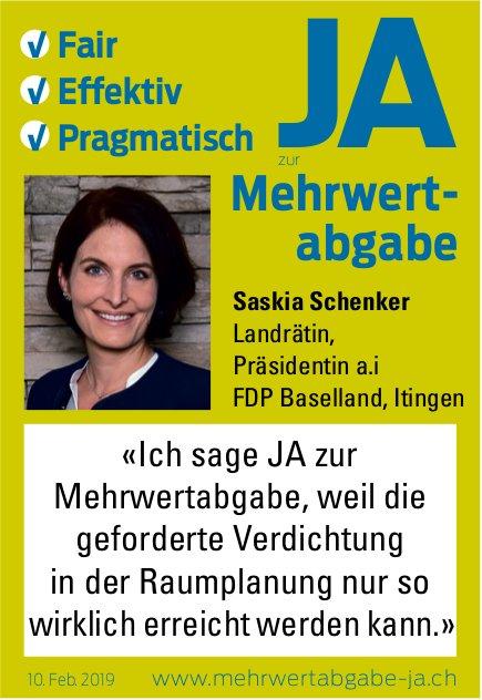 Saskia Schenker sagt Ja zur Mehrwertabgabe
