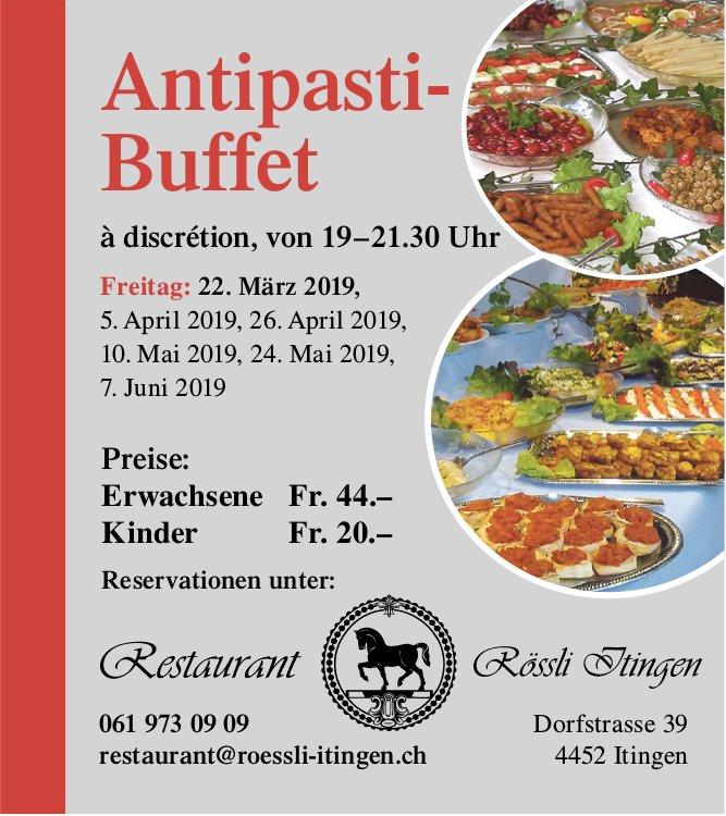 Restaurant Rössli Itingen - Antipasti-Buffet am 22. März