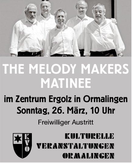 """""""The Melody Makers"""" - Konzert am 26. März in Ormalingen"""