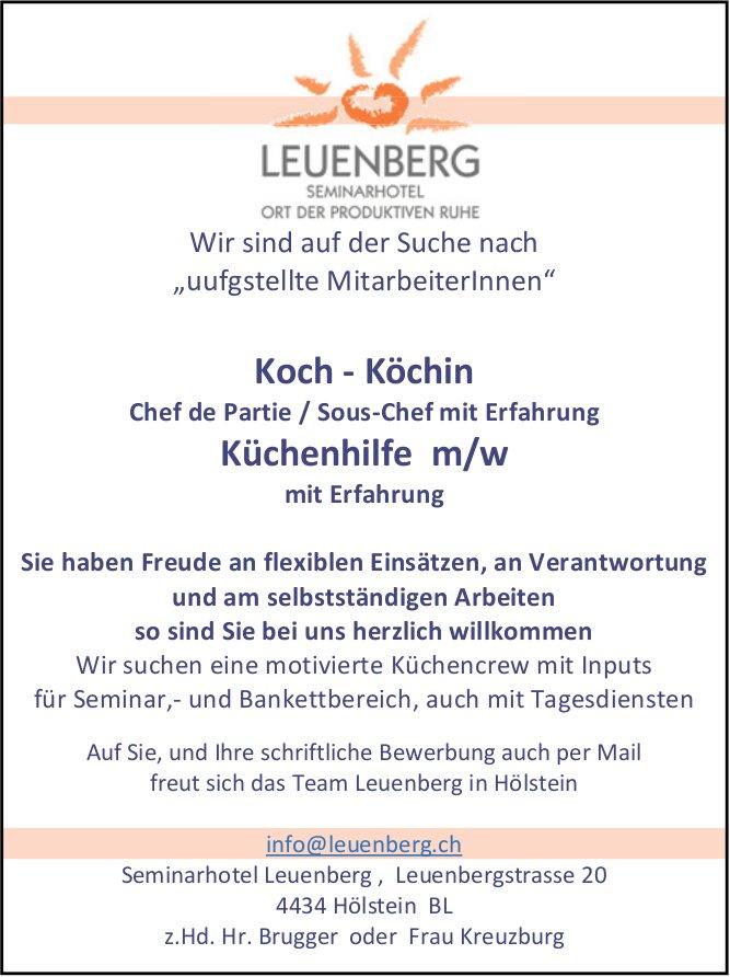 Koch/Köchin und Küchenhilfe in Hölstein gesucht