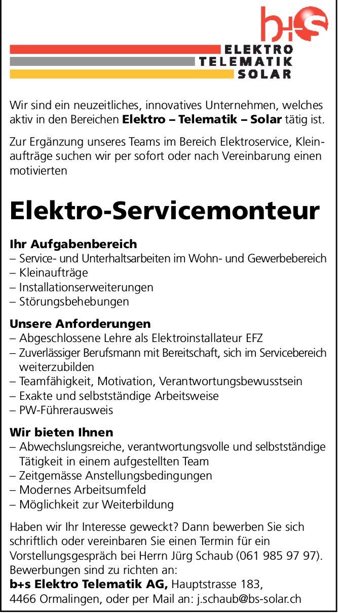 Elektro-Servicemonteur gesucht