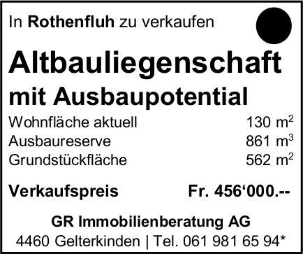 Altbauliegenschaft, Rothenfluh, zu verkaufen