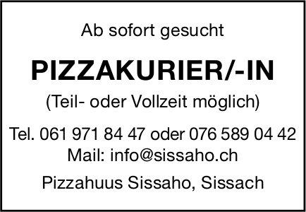 Pizzakurier/in, Pizzahuus Sissaho, Sissach, gesucht