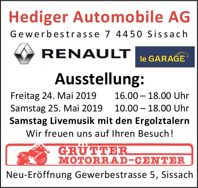 Ausstellung, 24. und 25. Mai, Hediger Automobile AG, Sissach