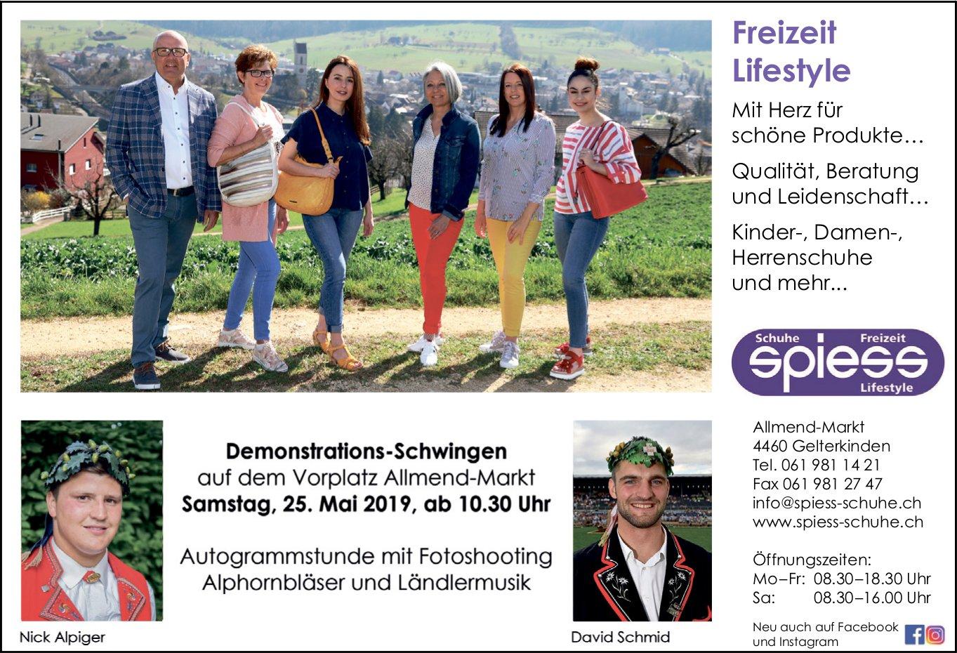 Demonstrations-Schwingen, 25. Mai, Vorplatz Allmend-Markt, Gelterkinden