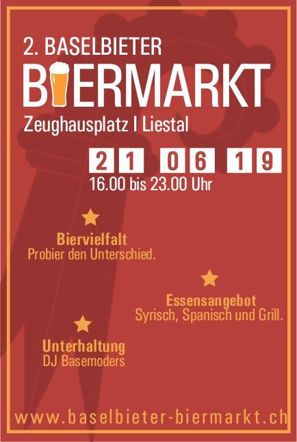 2. Baselbieter Biermarkt, 21. Juni, Zeughausplatz, Liestal