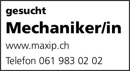 Mechaniker/in, gesucht