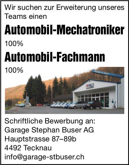 Automobil-Mechatroniker und Automobil-Fachmann, Garage Stephan Buser AG, Tecknau, gesucht