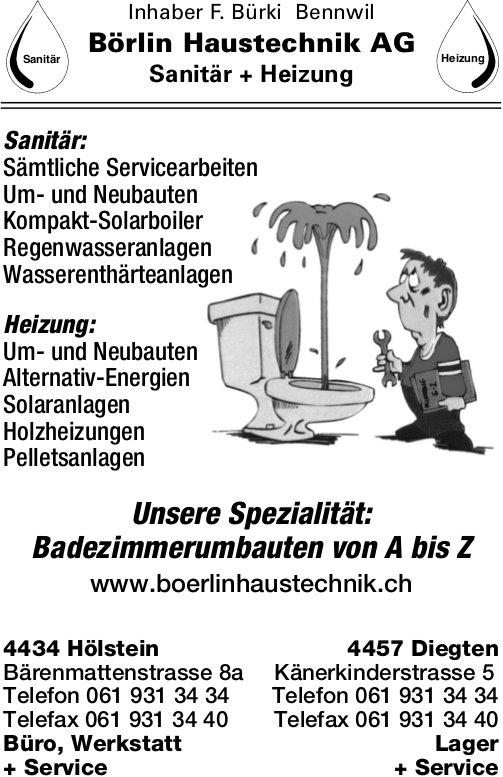Börlin Haustechnil AG Sanitär + Heizung