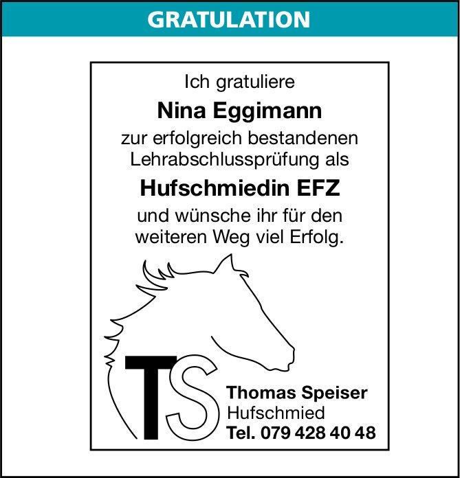 Erfolgreiche Lehrabschlussprüfung: Nina Eggimann