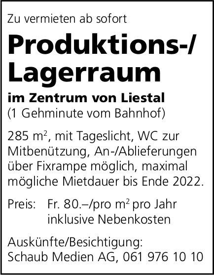 Produktions-/Lagerraum, Liestal, zu vermieten