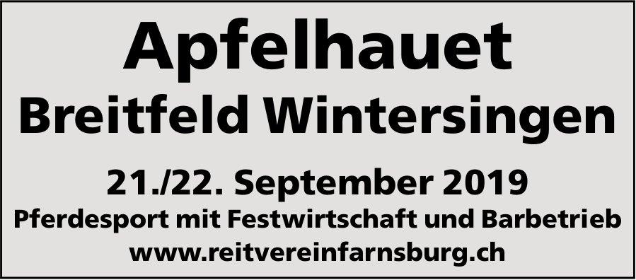 Apfelhauet, 21. und 22. September, Breitfeld Wintersingen