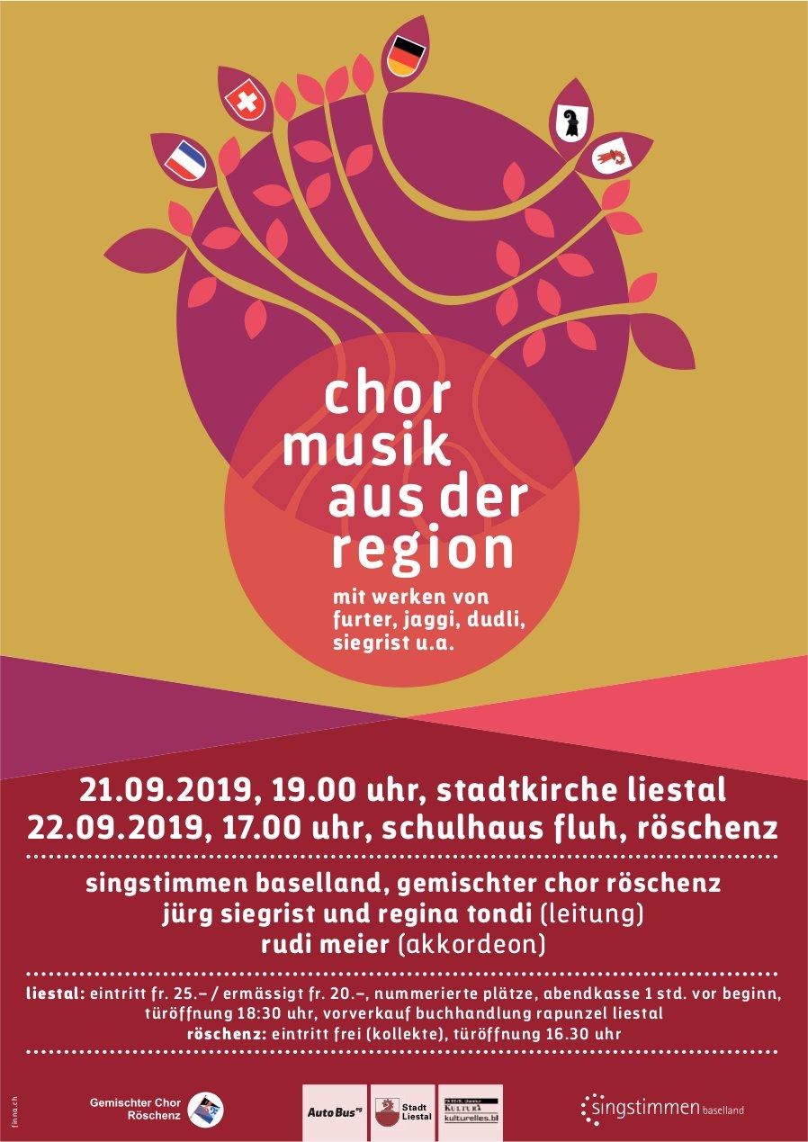 Chormusik aus der Region am 21. und 22. September in Liestal
