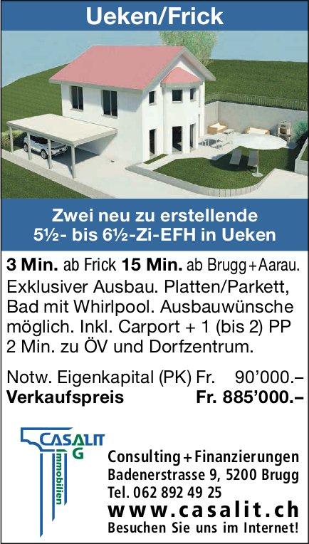 5.5- bis 6.5-Zi-EFH, Ueken, zu verkaufen