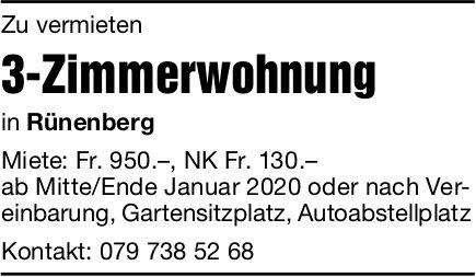 3-Zimmerwohnung, Rünenberg, zu vermieten