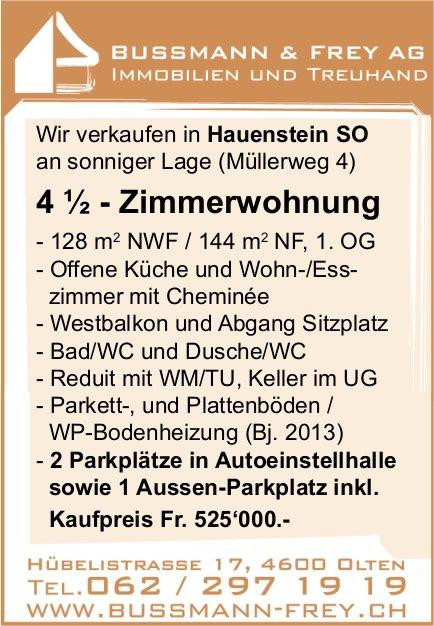 4.5 - Zimmerwohnung, Hauenstein SO, zu verkaufen