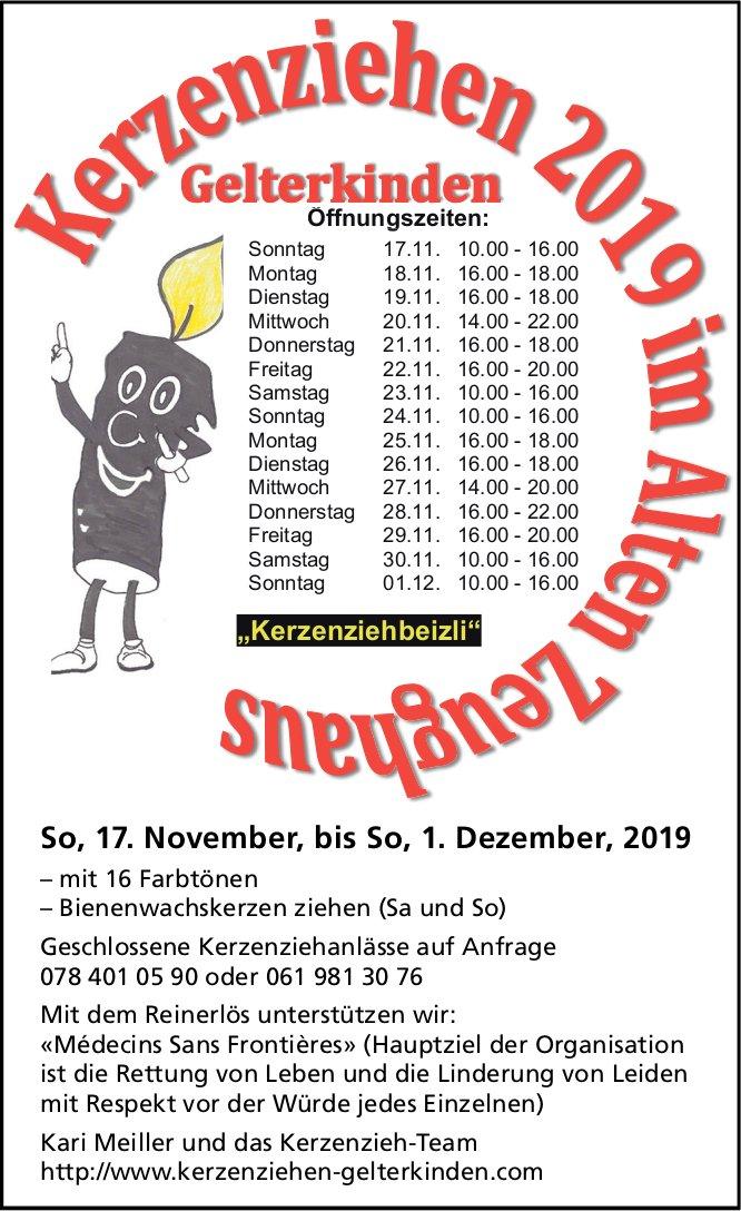 Kerzenziehen, 17. November bis 1. Dezember, Altes Zeughaus, Gelterkinden