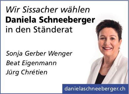 Wir Sissacher wählen Daniela Schneeberger in den Ständerat