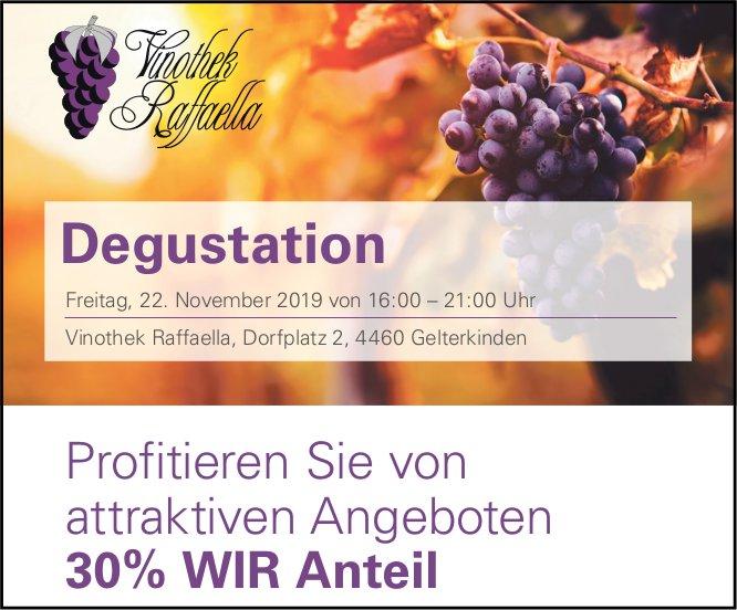 Degustation Vinothek Raffaella am 22. November in Gelterkinden