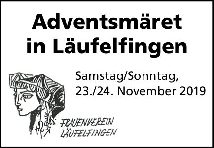 Adventsmäret in Läufelfingen am 23./24. November