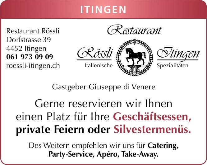 Restaurant Rössli, Itingen - Italienische Spezialitäten