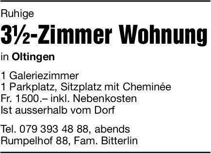 3.5-Zimmer Wohnung in Oltingen