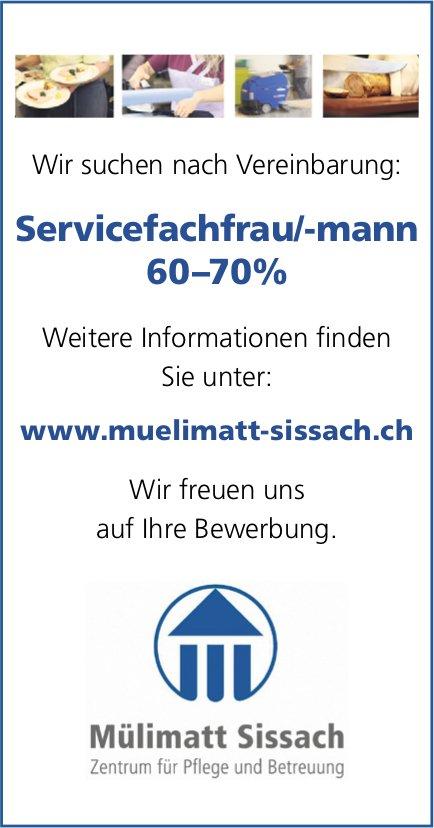 Servicefachfrau/-mann, Mülimatt Sissach, gesucht