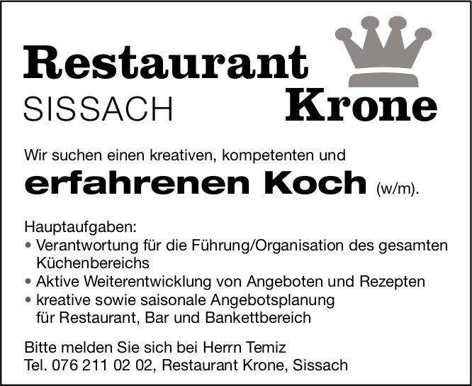Restaurant Krone Sissach sucht Koch