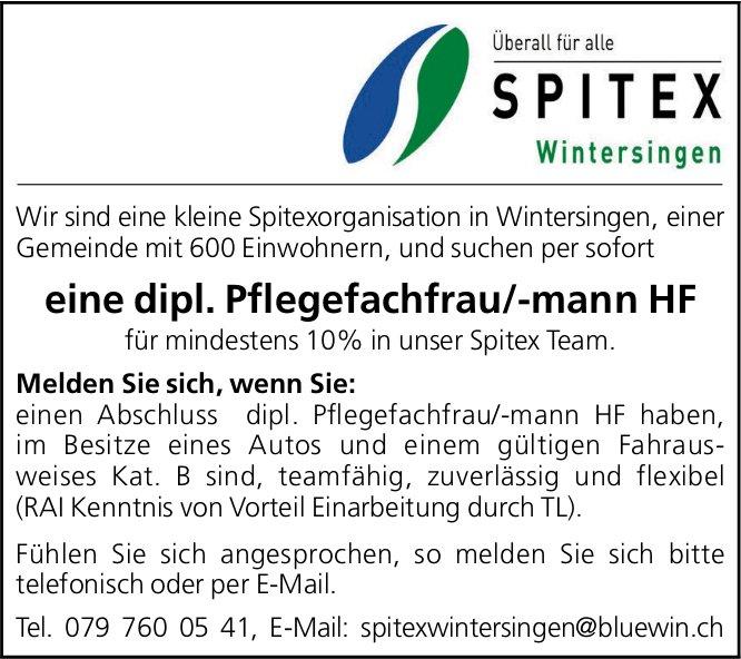 Dipl. Pflegefachfrau/-mann HF, Spitex Wintersingen, gesucht
