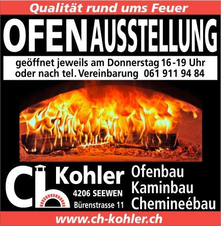 Ch. Kohler,  Seewen, Ofenausstellung