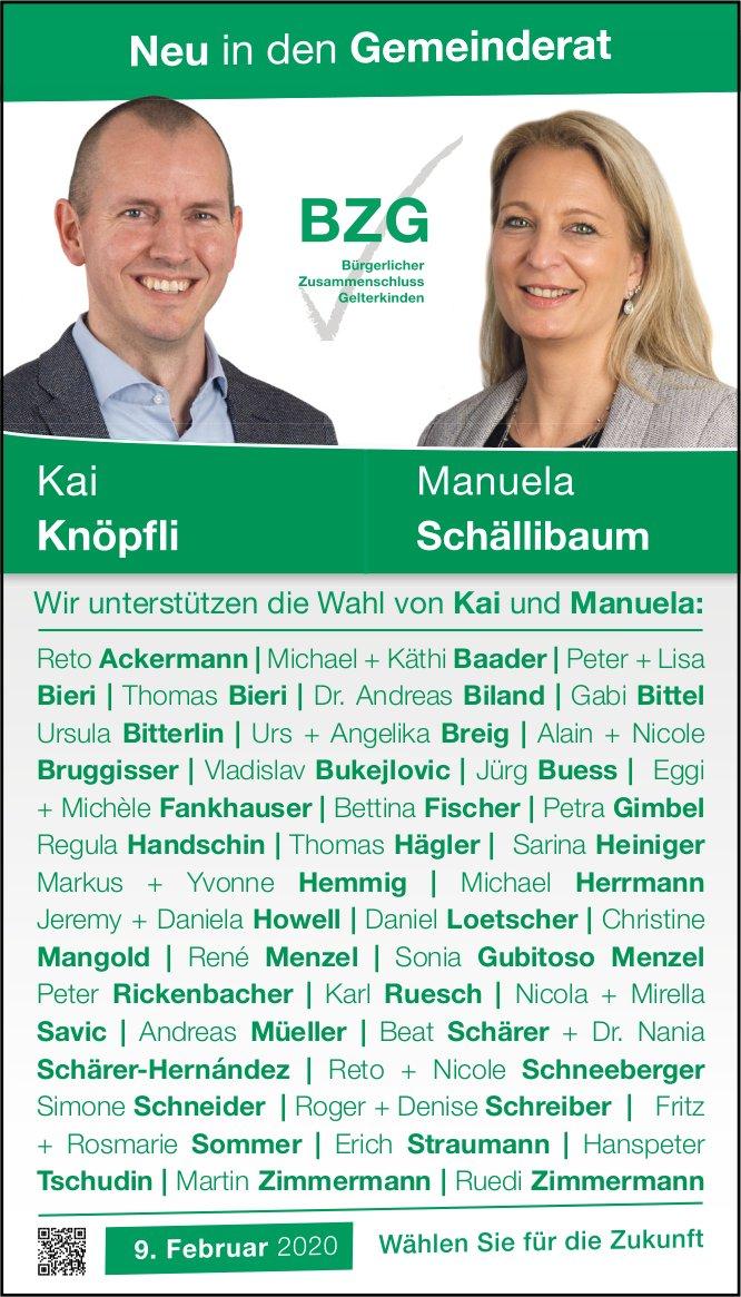 Kai Knöpfli und Manuela Schällibaum in den Gemeinderat von Gelterkinden