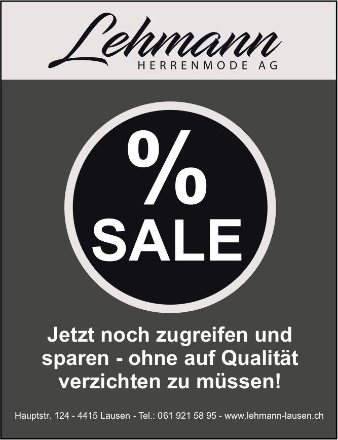Lehmann Herrenmode AG Lausen - Sale