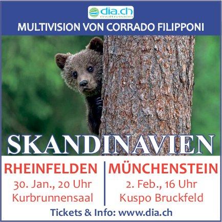 Skandinavien, Multivision von Corrado Filipponi, Münchenstein