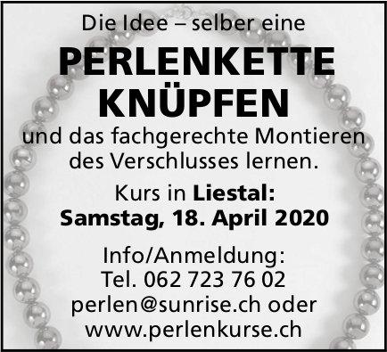 Perlenkette knüpfen, 18. April, Liestal