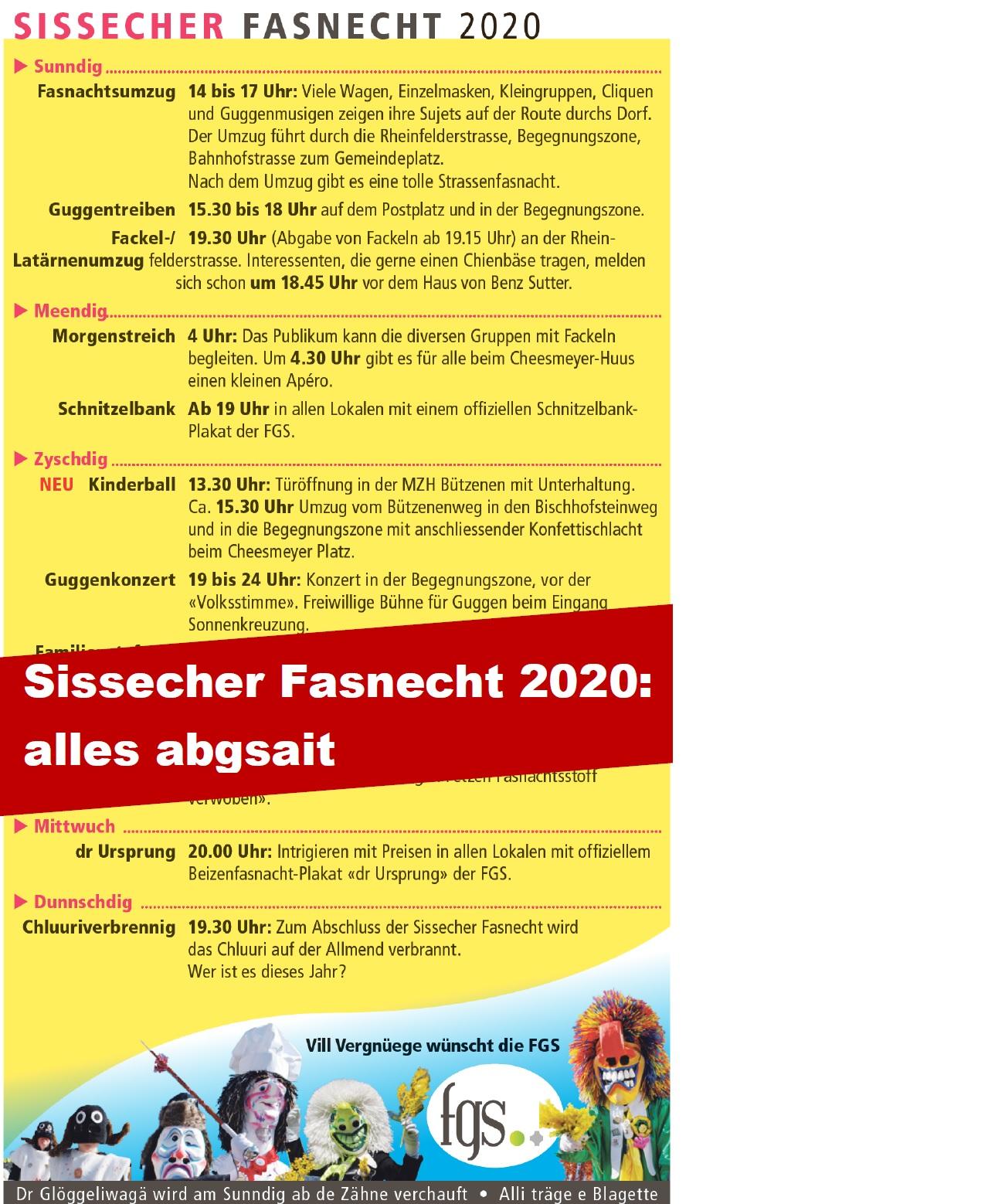 Sissacher Fasnecht 2020