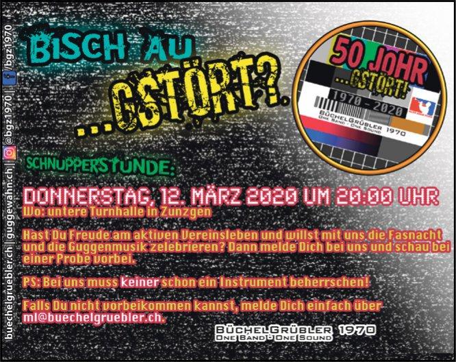 """""""Bisch au gstört..?"""" am 12. März in Zunzgen"""