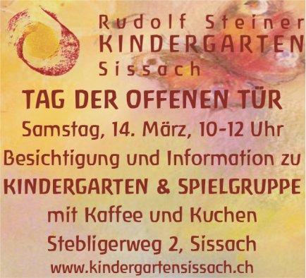 Rudolf Steiner Kindergarten Sissach - Tag der offenen Tür am 14. März