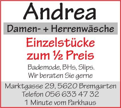 Andrea Damen- + Herrenwäsche - Einzelstücke zum ½ Preis
