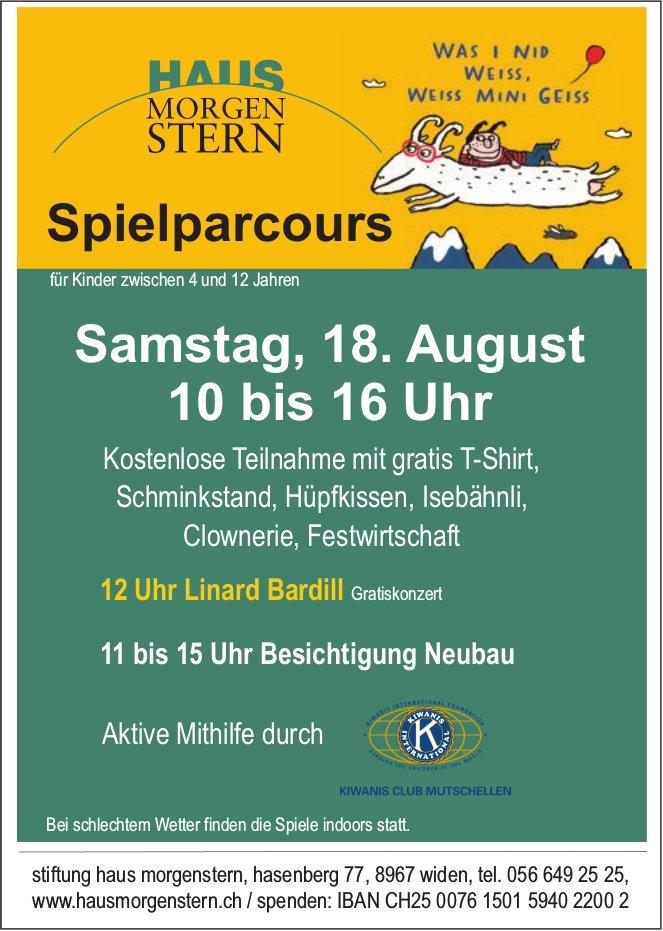 Stiftung Haus Morgenstern - Spielparcours für Kinder am 18. August
