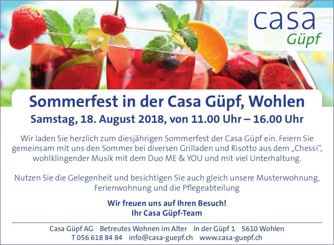 Sommerfest in der Casa Güpf, Wohlen, am 18. August