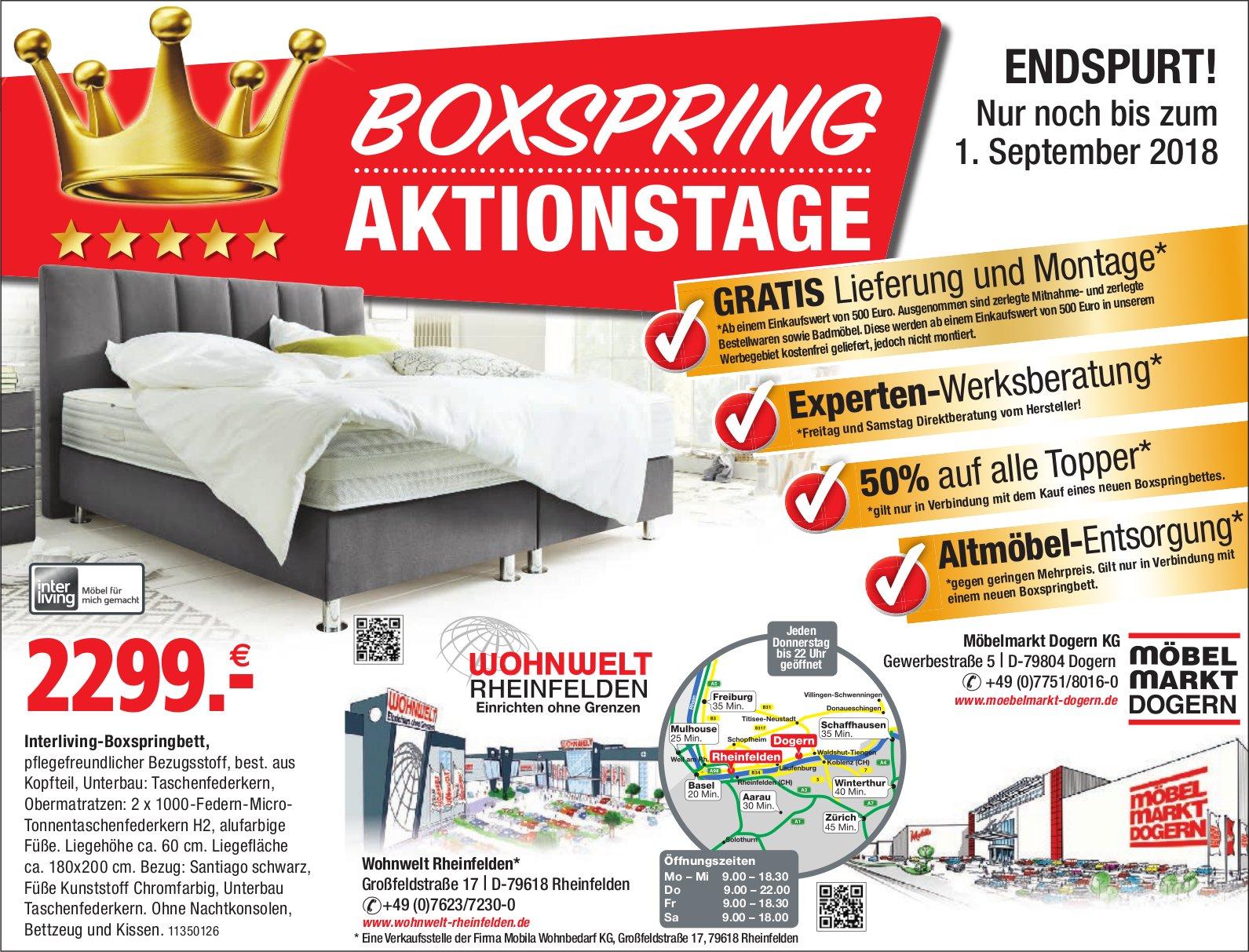 Wohnwelt Rheinfelden Möbelmarkt Dogern Kg Boxspring Aktionstage