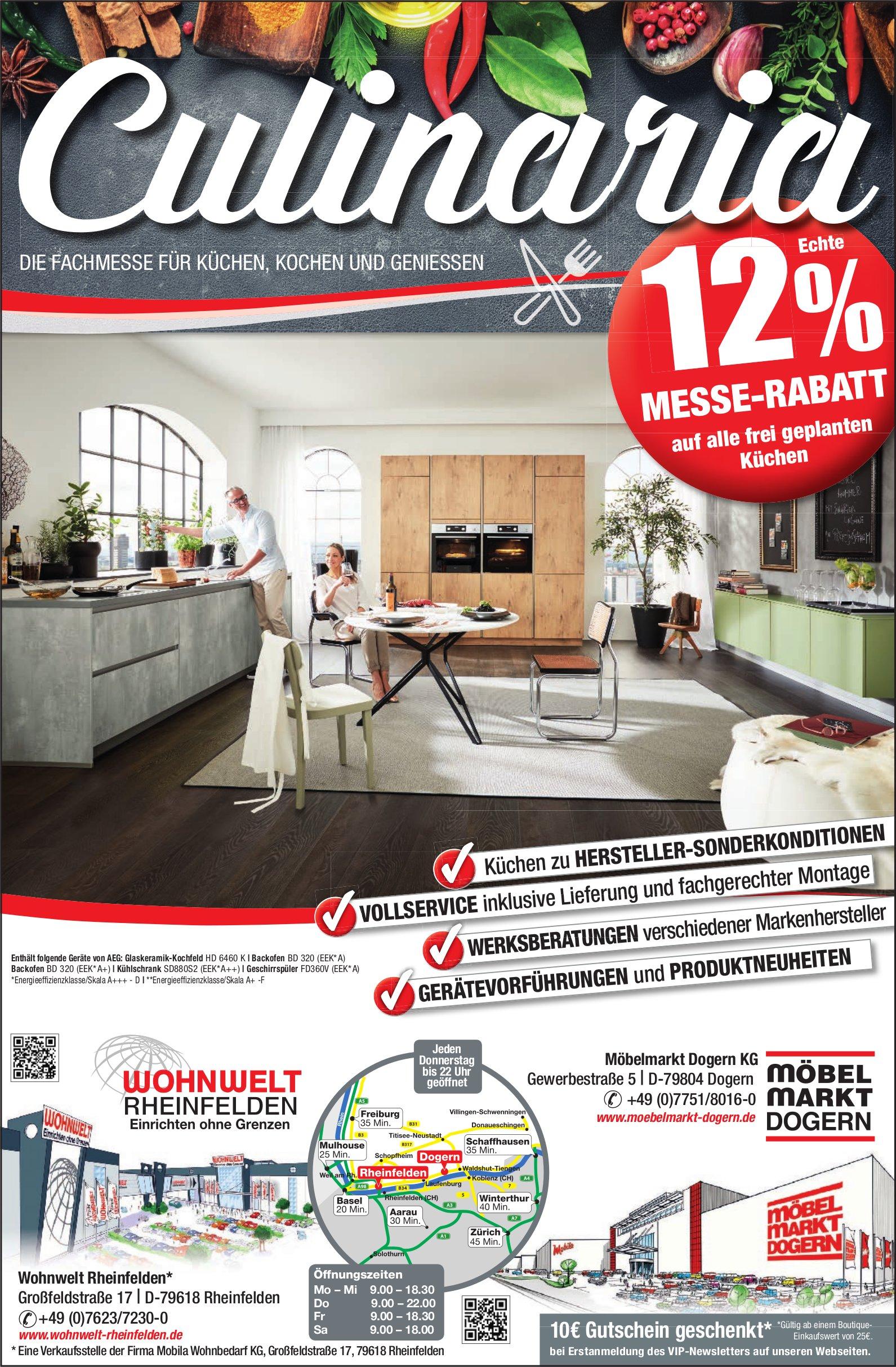 Wohnwelt Rheinfelden Möbelmarkt Dogern Kg Culinaria Die
